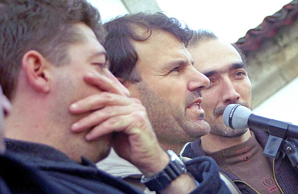 22/12/2002 <br>Cofradía de O Grove. Los patrones mayores de A Pobra, O Grove y Cangas mantuvieron una huelga de hambre para reclamar más medios <br>Martina Miser