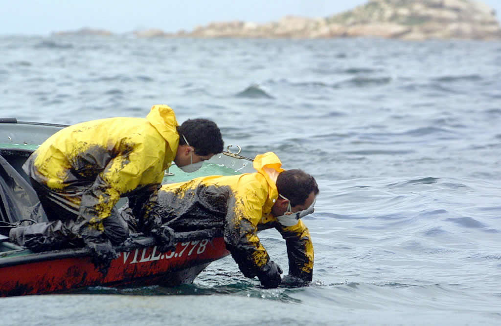 Los marineros protestaron por la falta de medios <br>Vítor Mejuto