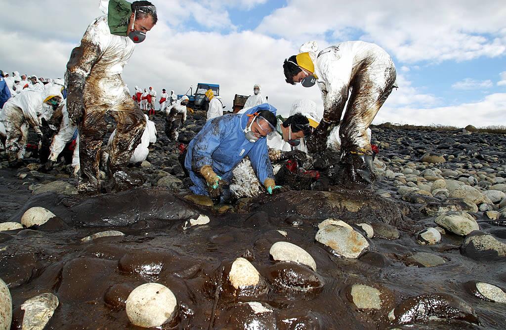 Limpieza de la cala de Cabo Vilán, en Camariñas <br>Ana García