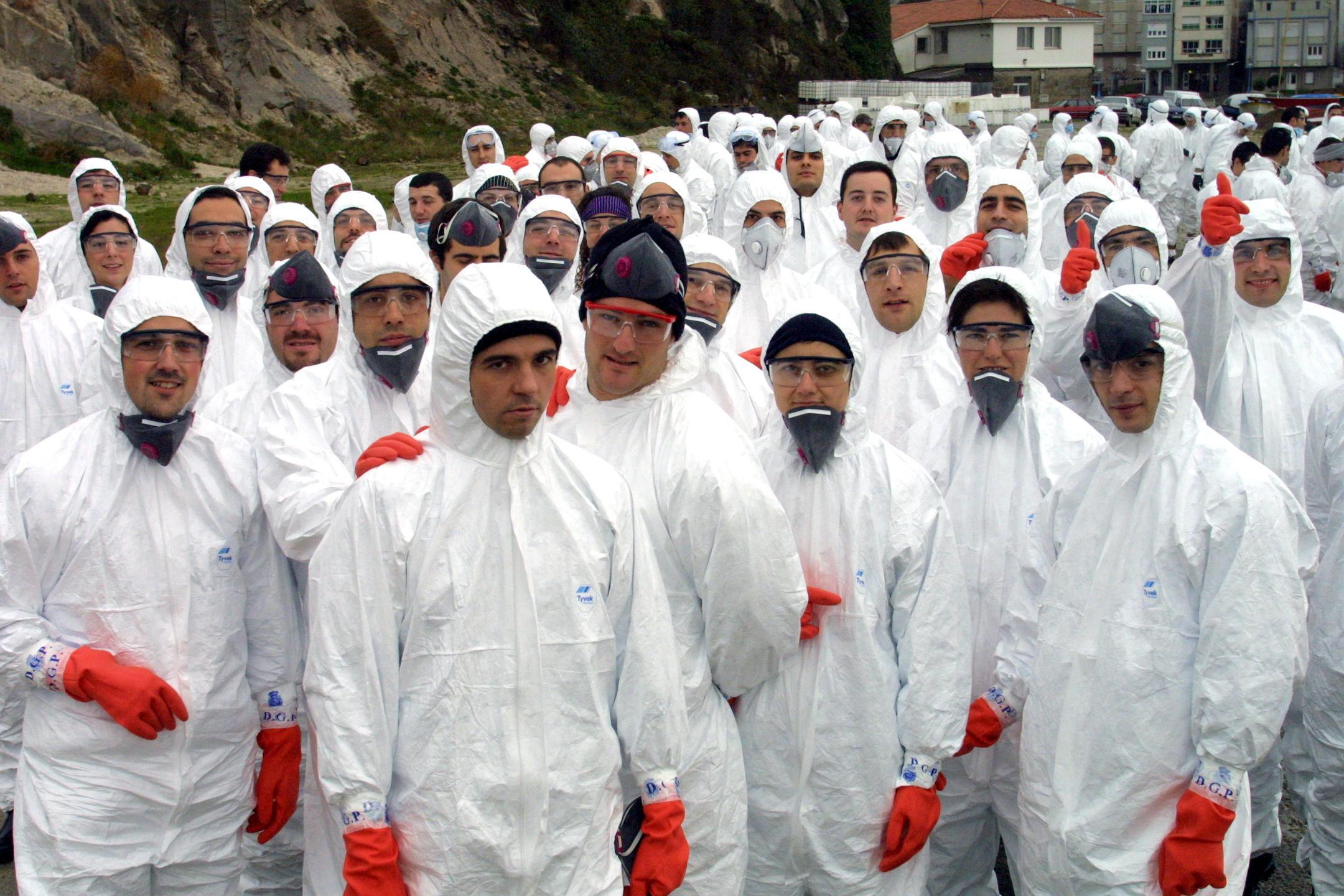 Pelotón de limpieza en Corme <br>José Manuel Casal
