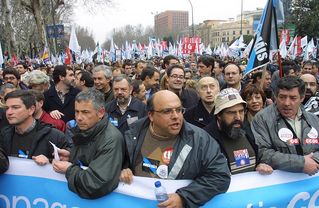 Más de 300.000 personas se manifestaron en Madrid. <br><b>José Manuel Casal</b>