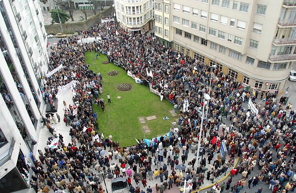 Protesta en Ferrol contra la gestión de las autoridades <br>José Pardo