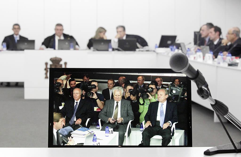 Captura de una cámara que muestra a los tres acusados. <br><b>Gustavo Rivas</b>