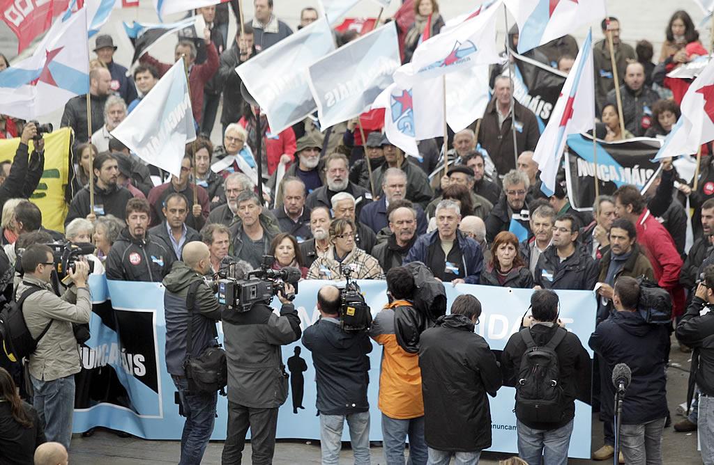 Manifestación de Nunca Máis ante Expocoruña. <br><b>Gustavo Rivas</b>