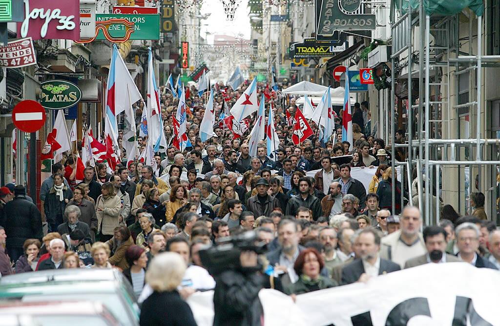 Cabecera de la marcha en Ferrol <br>José Pardo