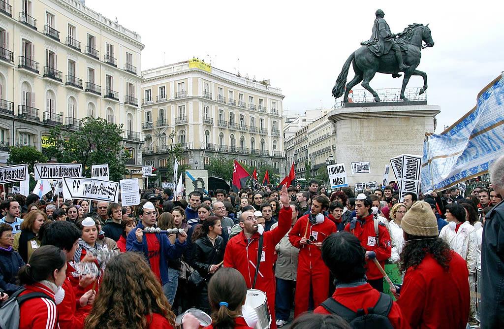 En Madrid se organizó una protesta alternativa <br>Benito Ordóñez